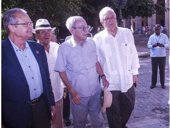 Reconoce Canciller de España labor de Eusebio Leal por el patrimonio cubano (+Fotos)