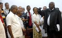 Departe Esteban Lazo con líderes religiosos de Cuba