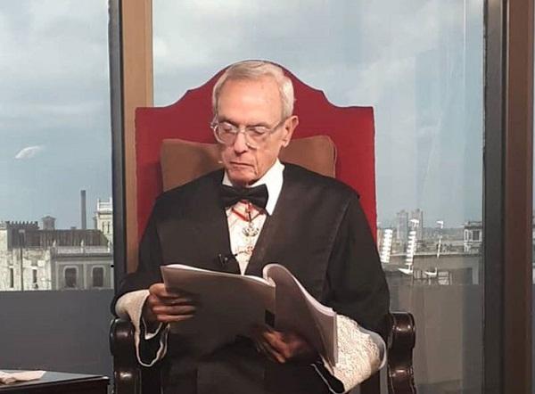Reconocen a Eusebio Leal como Doctor Honoris Causa de la Pontificia Universidad Lateranense