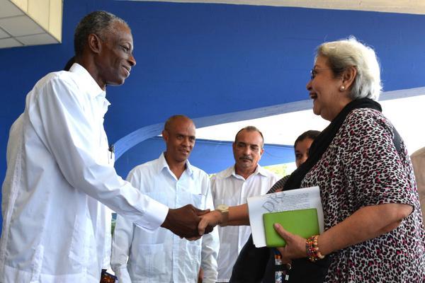 Vicepresidente cubano de Deportes dialoga con experta de la ONU