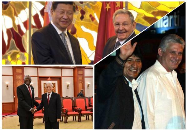Mandatarios de Bolivia, China y Vietnam felicitan a Cuba por aniversario 60 del triunfo revolucionario