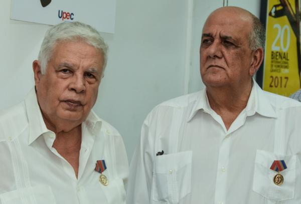 Rolando Alfonso Borges y el Dr. Luis Curbelo Alfonso