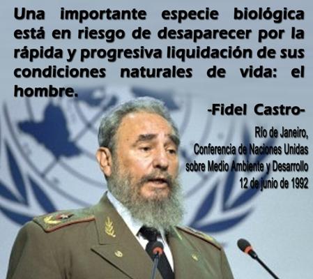 Reconocen en ONU legado de Fidel Castro sobre medio ambiente