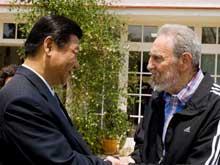 Líder cubano Fidel Castro se reunió con vicepresidente chino