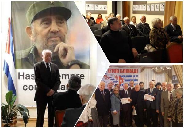 Homenaje a Fidel en Ucrania por Día de las Fuerzas Armadas cubanas