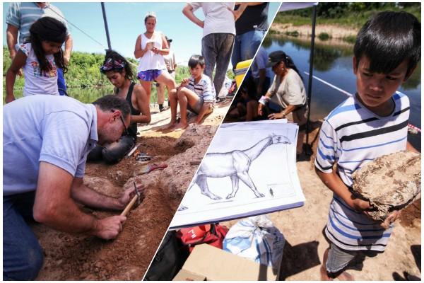 Hallan en Argentina esqueleto de mamífero extinguido hace ocho mil años