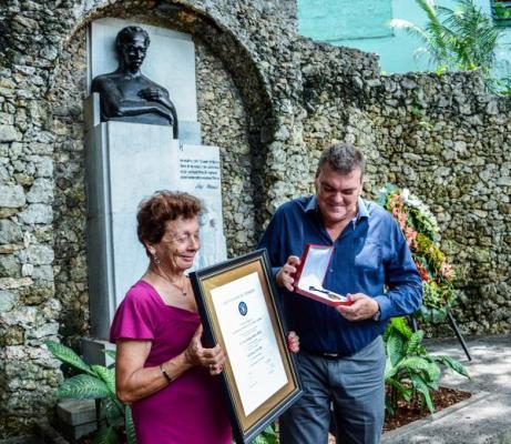 Custodia Fragua Martiana Medalla conferida al Héroe Nacional de Cuba