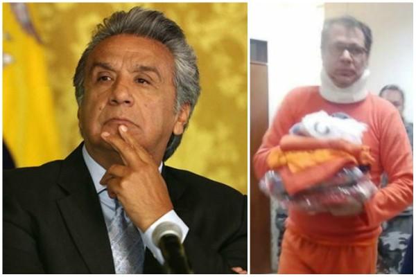 Solicitan a Lenín Moreno cuidar la integridad física de Jorge Glas