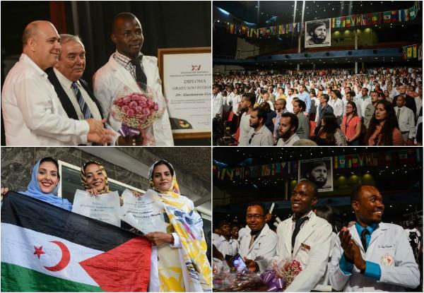 Universidad fundada por Fidel Castro titula a 500 nuevos médicos de varias naciones
