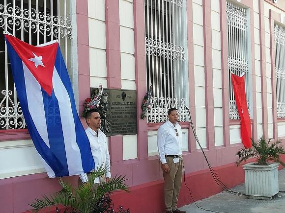 Bancarios camagüeyanos rinden tributo al destacado revolucionario Alfredo Álvarez Mola (+Audio)