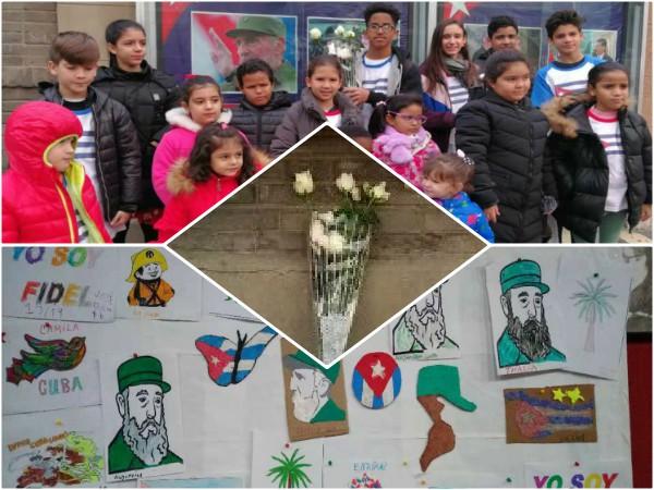 Evocan legado de Fidel niños y jóvenes cubanos en China