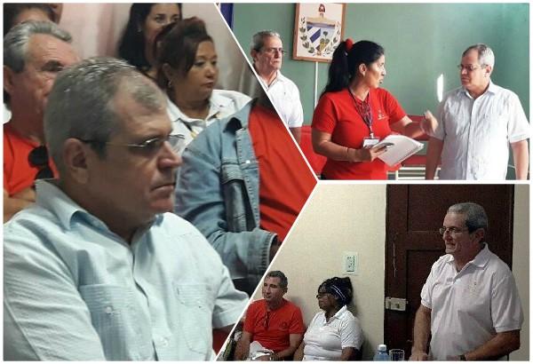 Intercambia el Secretario del Consejo de Estado con autoridades electorales en Camagüey (+Fotos)