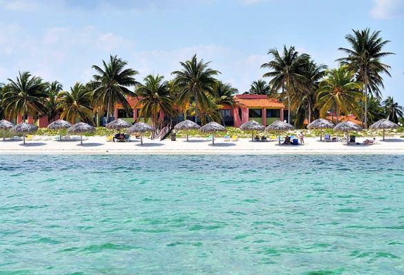 Playa Santa Lucía, en la costa norte camagüeyana.