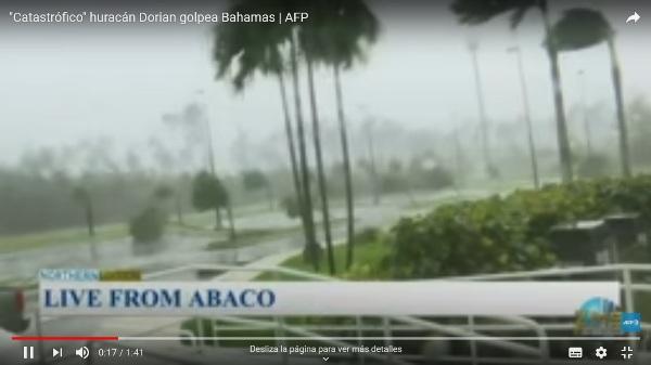 Dorian castiga a Bahamas con vientos cercanos a 300 km/h