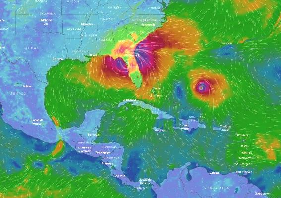 Irma se mueve al norte de la Florida