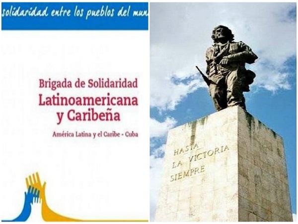 Brigada latinoamericana y caribeña de solidaridad con Cuba rinde homenaje al Che