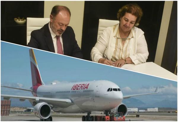 En la capital cubana nuevo avión de Iberia
