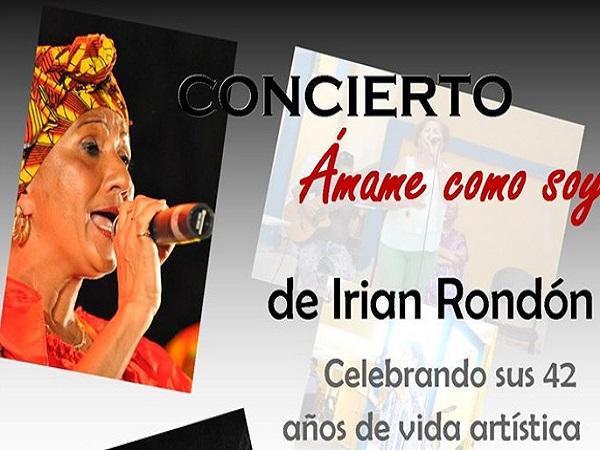 Celebra cantante camagüeyana Irian Rondón 42 años de vida artística