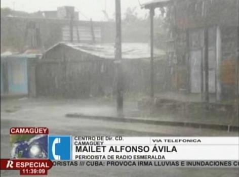 Irma provoca olas de hasta ocho metros de altura en Cayo Romano