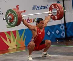Tres de bronce para Iván Cámbar en Panamericano de pesas