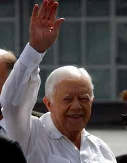 Carter, contra las restricciones a Cuba y a favor de Los Cinco (+ Fotos y Videos)