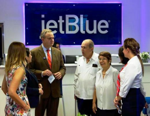 Aerolínea estadounidense JetBlue fortalece operaciones en Cuba