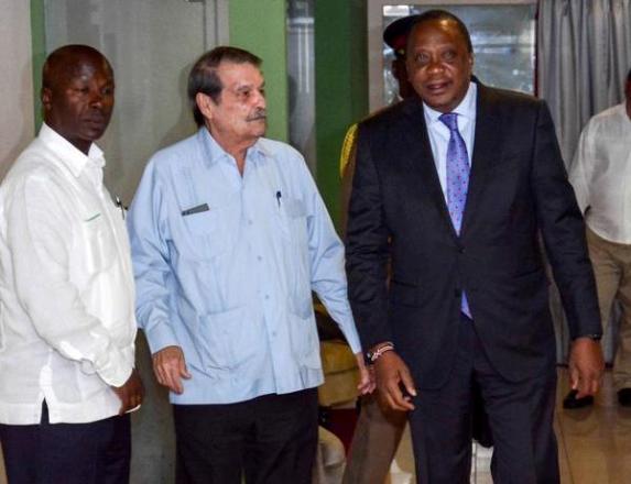 En Cuba el Presidente de Kenya para visita oficial