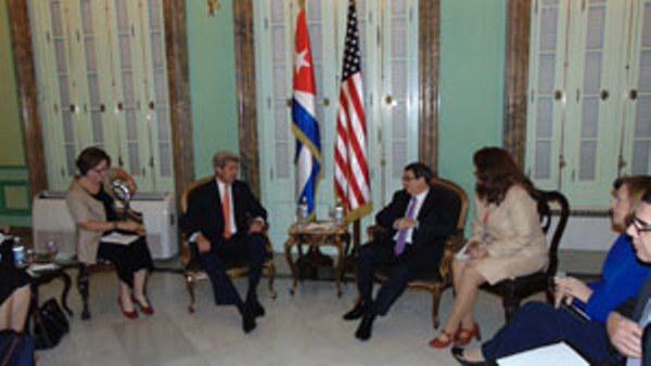 Bruno Rodríguez y John Kerry se reúnen en Cuba