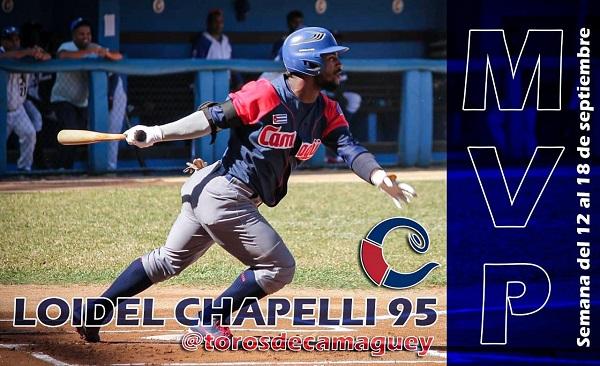 Seleccionado Loidel Chapellí primer MVP de la 60ª Serie Nacional de Béisbol