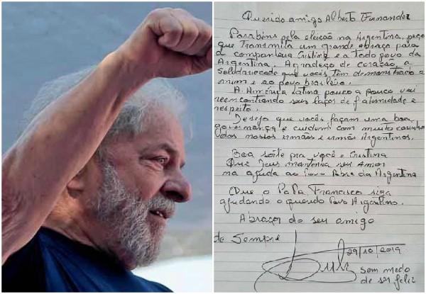 Felicita Lula a Alberto Fernández por triunfo electoral
