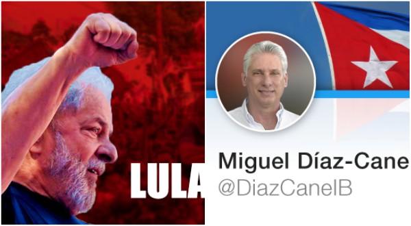 Cuban president celebrates the release of Lula