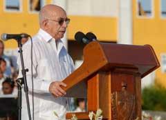 Palabras de José Ramón Machado Ventura este 26 de julio en Guantánamo