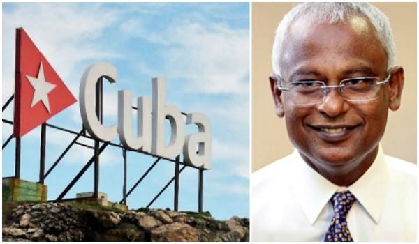 Presidente de Maldivas saluda a los cubanos por aniversario 60 de la Revolución