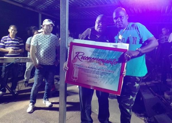 Orquesta Maravilla de Florida recibe reconocimiento del pueblo cubiteño