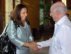 Marisol Espinoza expresa voluntad de fortalecer lazos con Cuba
