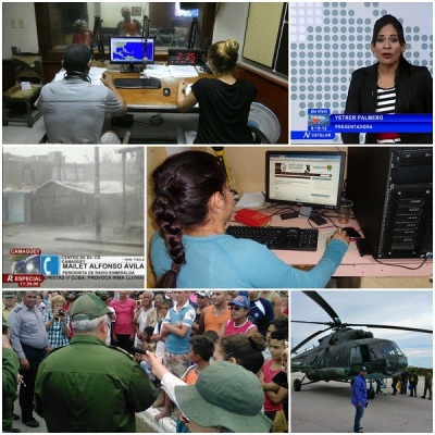 Camagüey´s Media, protagonists of the information after the passage of hurricane Irma
