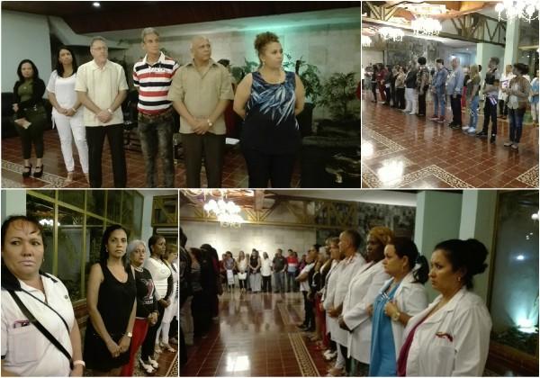 Rinden tributo al Comandante en Jefe médicos camagüeyanos llegados de Brasil