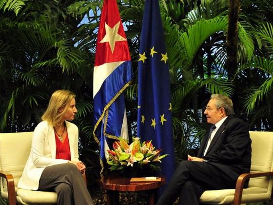 Recibe Raúl Castro a la Alta Representante de la Unión Europea ( + Video)