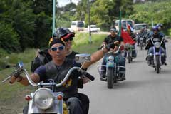Latin American Motorcyclists Ride for Peace and Solidarity