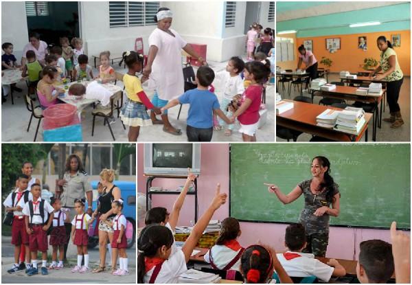 La mujer cubana en la línea delantera de los preparativos del curso escolar