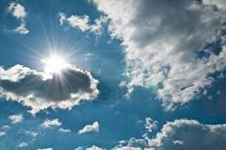 Altas temperaturas con chubascos en la tarde