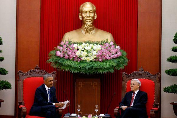 Se reúnen Obama y Secretario General del Partido Comunista de Vietnam