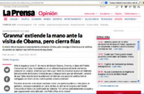 Prensa panameña destaca posición de Cuba ante visita de Obama