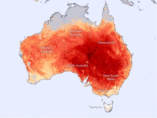 Ola de calor bate récords en Australia