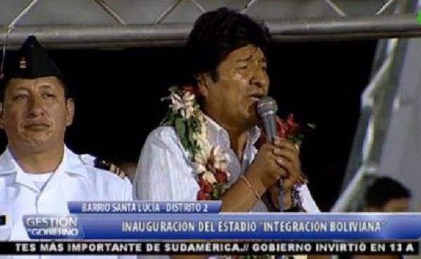 Lamenta Evo Morales violencia de la oposición boliviana