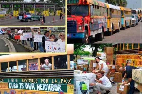 The US-Cuba Friendshipment Caravan Visits Villa Clara
