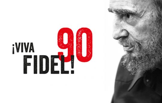 Homenaje sobre ruedas por los 90 de Fidel