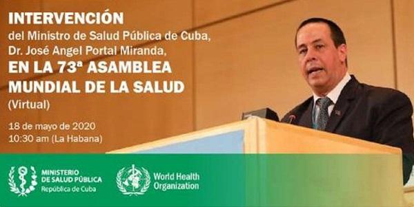 Intervendrá hoy José Ángel Portal Miranda en Asamblea Mundial de la Salud