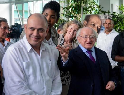 Reconoce Presidente de Irlanda valores del sistema cubano de Salud (+ Fotos)