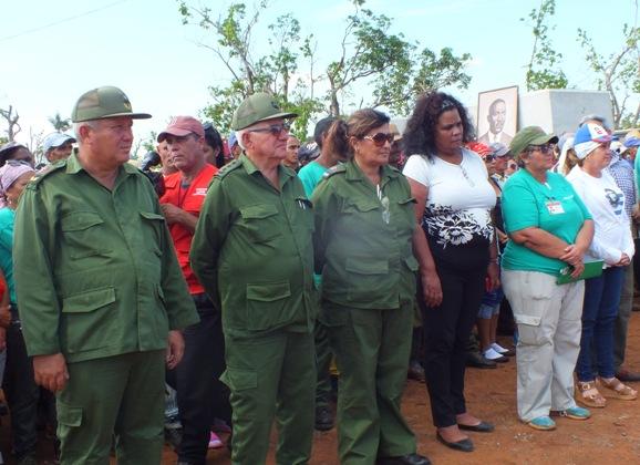 El Héroe de la República de Cuba Ramón Espinosa Martín presidió la celebración.